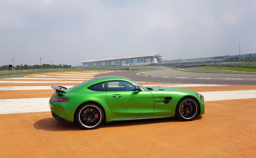mercedes amg gt r on the bic