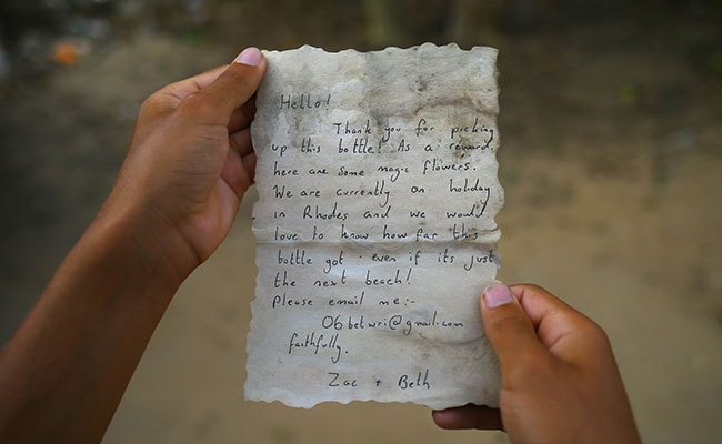 Couple's Message In A Bottle Travels 800 Kilometres, Reaches Gaza