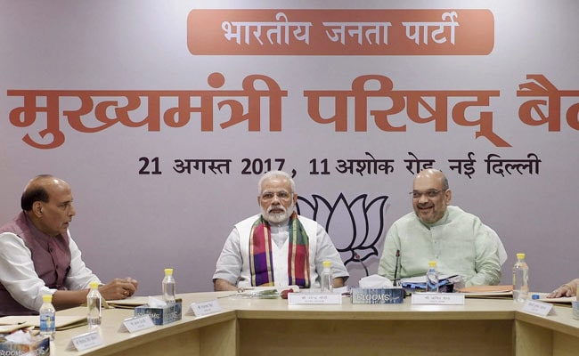 Work In Mission Mode For 'New India' By 2022: PM Modi To BJP Chief Ministers