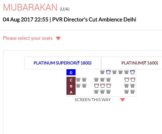 mubarakan ticket