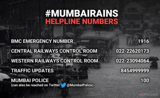 mumbai rain helpline numbers