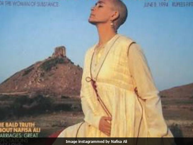 The Impossibly Lovely Nafisa Ali On A 1994 Cover Of Femina