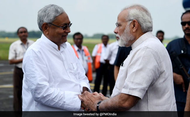 PM Modi Takes Aerial Survey Of Flood-Hit Bihar; Announces Rs 500 Crore Relief