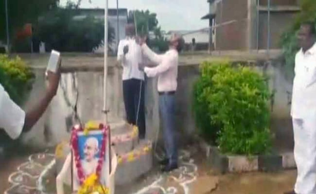 Telangana Principal Faces Mob Attack For Unfurling Flag With Shoes On