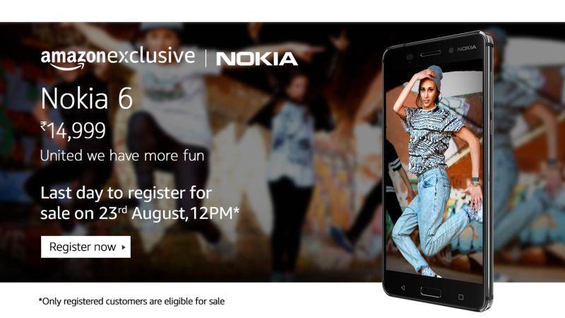 Nokia 6 के रजिस्ट्रेशन का आज आख़िरी दिन
