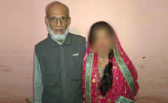 65 year old indian man with 21 year old indian girl