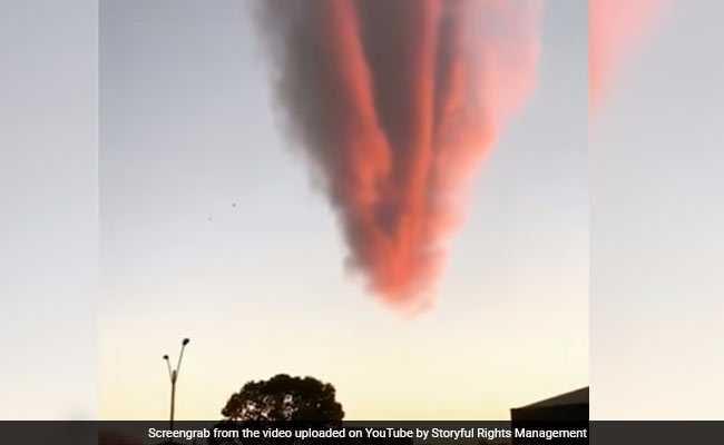 Strange Orange Cloud Formation Baffles Locals In Brazil. Watch Video