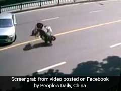 Watch: Scooter Flips 360 Degrees, Then Zooms Off Without Rider