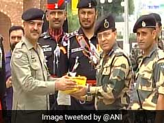 Pakistani Rangers Offer Sweets To India At Wagah Border