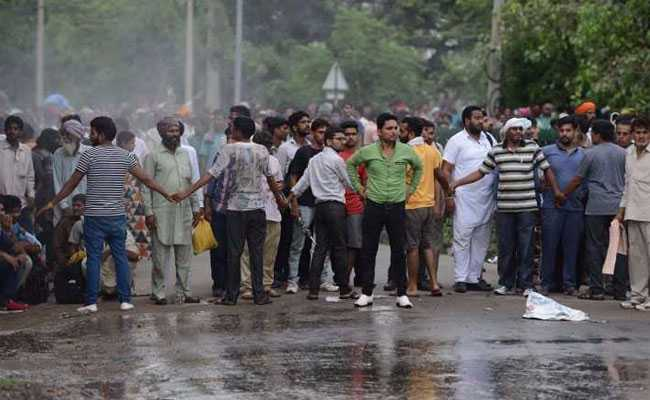 panchkula protesters afp