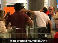 Passenger Carrying A Baby Asks About A Delay - And Is Punched By An Airport Worker