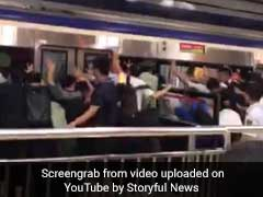 Watch: Passengers Push Train To Rescue Man Stuck In Platform Gap