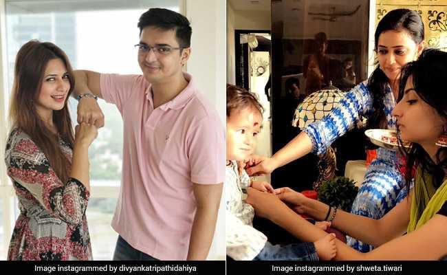 टीवी स्टार श्वेता तिवारी के बेटे ने बहन और दिव्यांका त्रिपाठी ने भाई के साथ कुछ ऐसे मनाया रक्षाबंधन