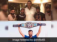 Rohit Sharma Trolls Teammates After They Meet The Great Khali