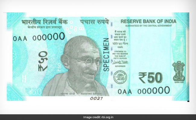 The new Rs 50 notes will be 'Fluorescent Blue' in colour.