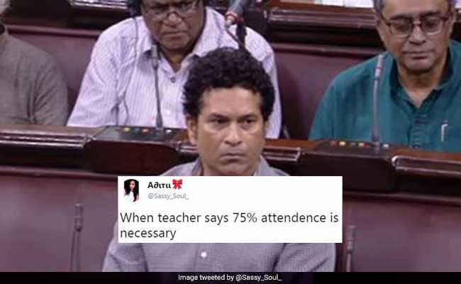 Tendulkar attends RS first time in Monsoon Session