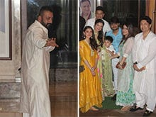 Ganesh Chaturthi 2017: Sanjay Dutt And Maanyata Celebrate With Team <i>Bhoomi</i>