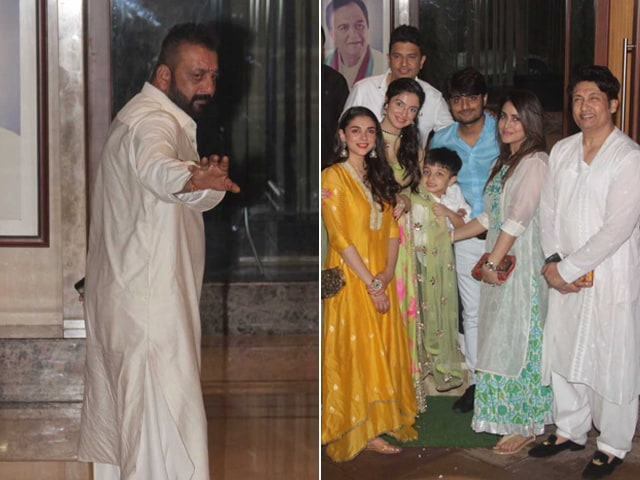 Ganesh Chaturthi 2017: Sanjay Dutt And Maanyata Celebrate With Team Bhoomi