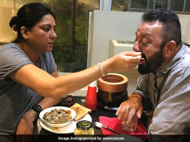 Sanjay Dutt Gets Pampered By Sister Priya Dutt In This Pic