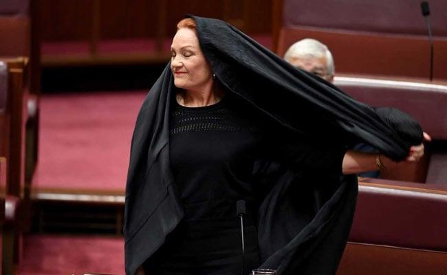 Australia Senator Wears Burqa To Parliament In Bid To Ban Them