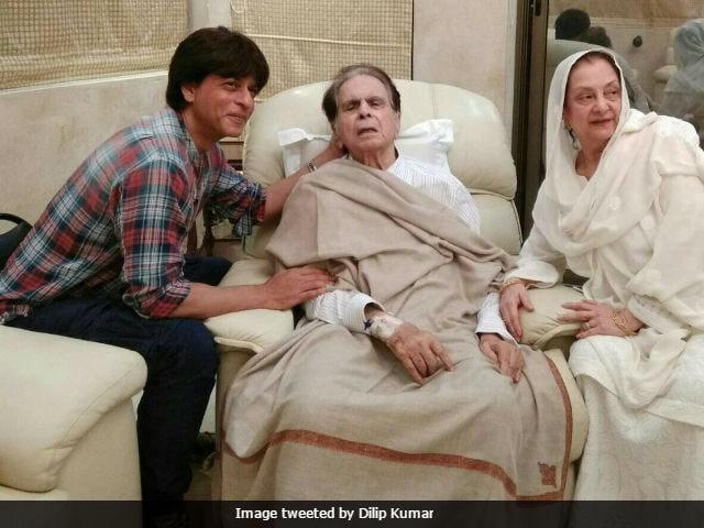 Dilip Kumar's 'Son' Shah Rukh Khan Visits Him. See Pics