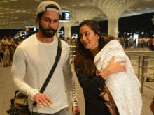 Shahid Kapoor, Mira And Baby Misha Fly Out Of Mumbai For A Family Vacation. See Pics