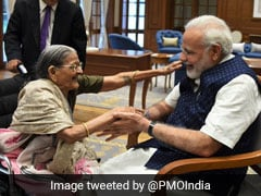 A 103-Year-Old, Schoolgirls Among Those Who Tied Rakhi To PM Narendra Modi