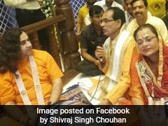When Chief Minister Shivraj Singh Chouhan Sang '<i>Bhajan</i>' At Vrindavan Temple