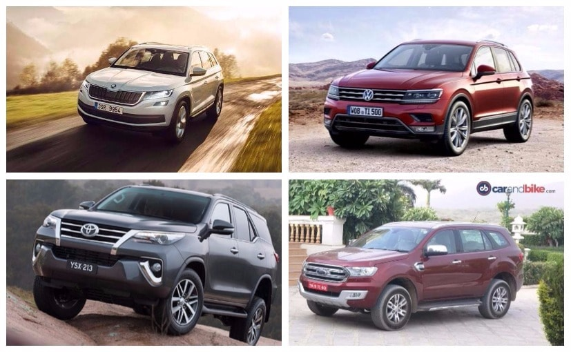 Skoda Kodiaq vs Toyota Fortuner vs Ford Endeavour vs Volkswagen Tiguan: Specifications Comparison