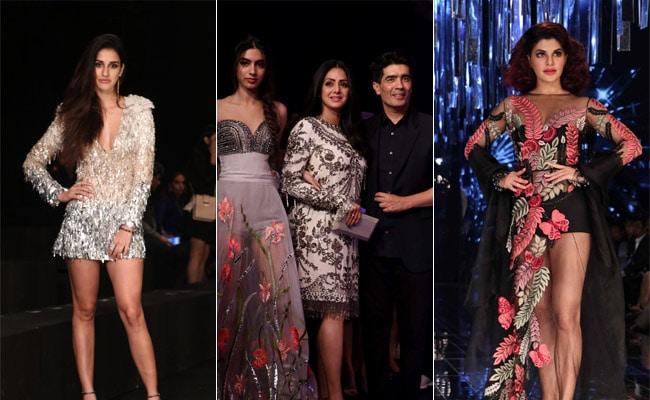 Lakme Fashion Week 2017: श्रीदेवी की बेटी पर टिकी निगाहें, सिजलिंग लुक में रैम्प पर उतरीं जैकलीन फर्नांडिस और दिशा पाटनी