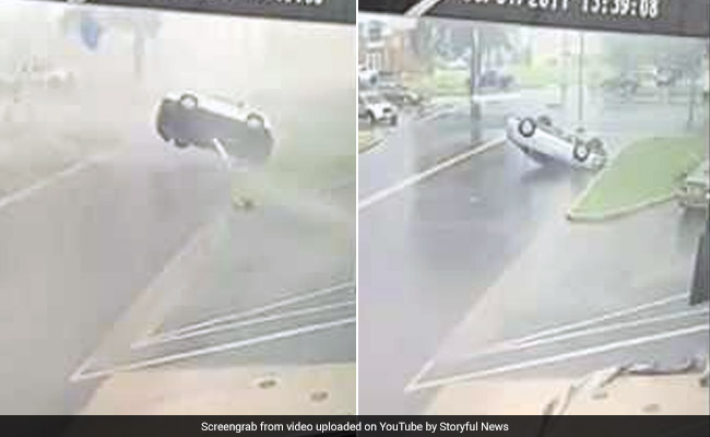 Caught On Camera: Massive Storm Flips Cars Like It's No Big Deal