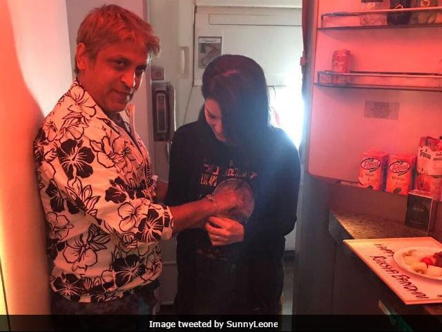 Raksha Bandhan 2017: Sunny Leone Tied Her Bodyguard A Rakhi. See Pics