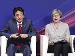British PM Theresa May Attends Top Security Meeting In Japan
