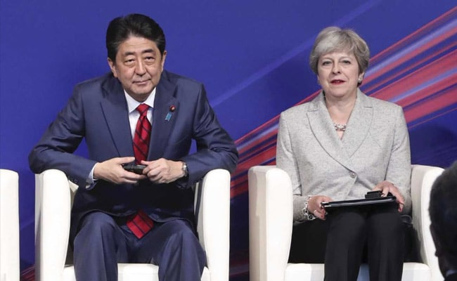 Theresa May Visits Tokyo Amid North Korea Tension And Brexit Fears