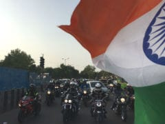 Motorcycle Riders Celebrate Independence Day Across India