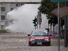 Typhoon Batters Hong Kong, Streets Flooded, Trading Halted