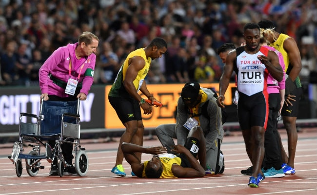 Sad Farewell For Injured Usain Bolt As Britain Win 4x100m Relay