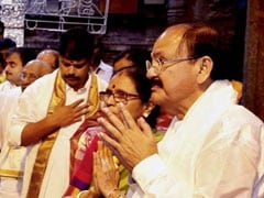Vice President-Elect Venkaiah Naidu Offers Prayers At Tirumala Shrine