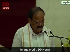 Venkaiah Naidu Takes Oath As India's 13th Vice President