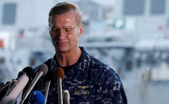 Navy removes 7th Fleet commander over collisions