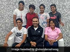 Virender Sehwag Meets India Womens Cricket Team Stars, Shares Picture On Twitter