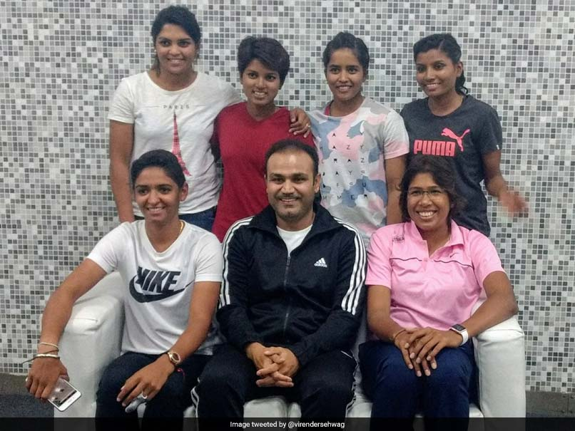 Virender Sehwag Meets India Women's Cricket Team Stars, Shares Picture On Twitter