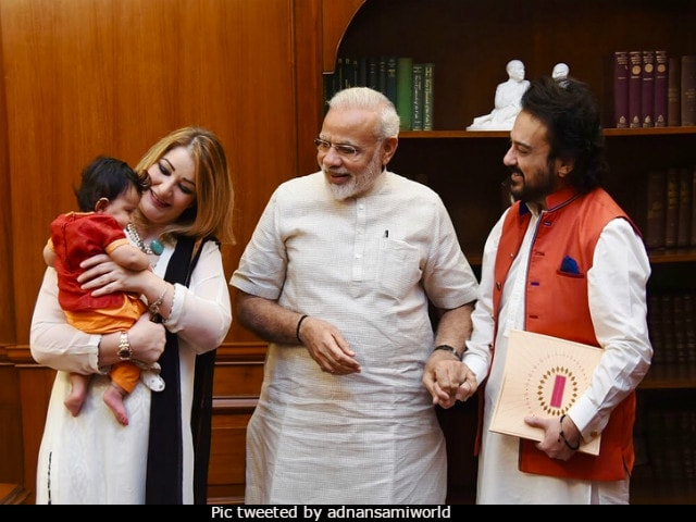 Adnan Sami visits PM Modi with family