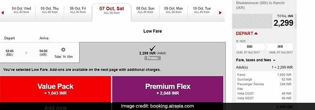 airasia rs 2299 ticket airasia website