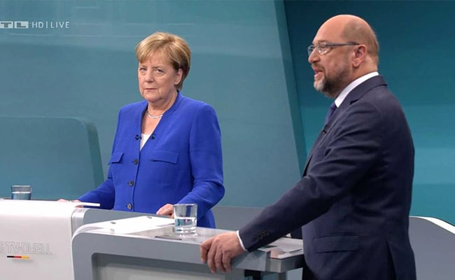 In German Debate, Merkel And Her Challenger Go After Donald Trump, But Not Each Other