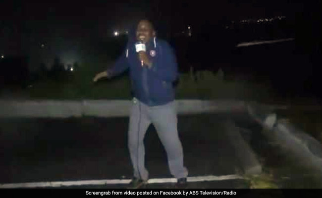 Hurricane Irma: TV Reporter Almost Thrown Off Balance By High-Speed Winds
