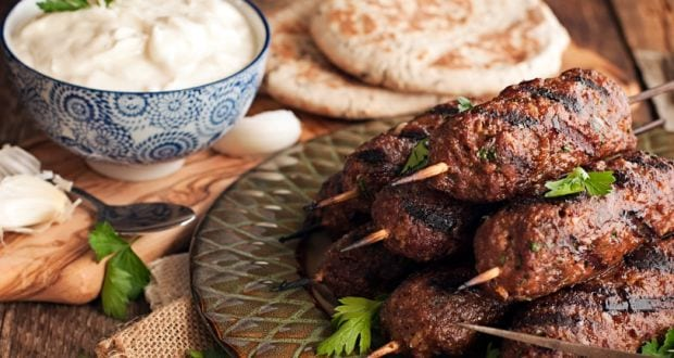 arbi kofta with mint yoghurt dip