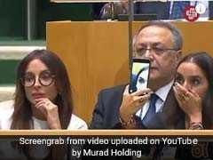 As Azerbaijan President Spoke On Genocide At UN, Daughter Took Selfies