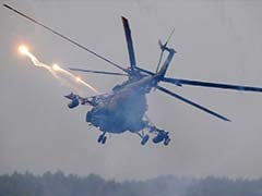 Helicopter Mistakenly Fires On Parked Vehicles In Russia War Games