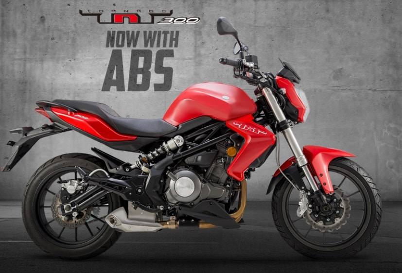 The Benelli TNT 300 street-fighter gets switchable dual-channel ABS